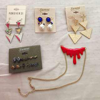 Earrings necklaces #idotrade