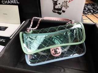 Chanel pvc flat bag