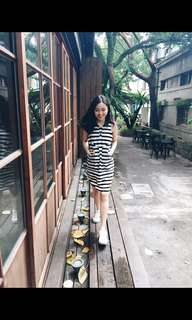 Stripes dress with pockets