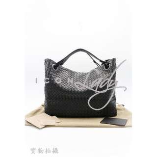 BOTTEGA VENETA 179320 黑色(NERO)編織羊皮 肩背袋 手袋