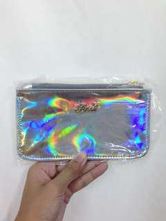 全新泰國posh 銀色鐳射hologram pattern 小銀包 small wallet