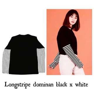 Long Sleeve stripe (kaos lengan panjang garis)