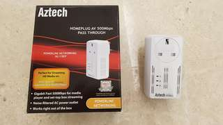 Aztech HL115EP 500mbps Network Homeplug