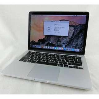 MacBook Pro 13.3吋 RETINA 2014年中│i5-2.6GHZ、8G、128G SSD