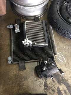 compressor / cooling coil / condensor myvi 1.3
