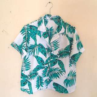 Tropical Shirt/Summer Shirt - White