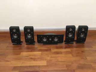 JBL 200.5 Surround Speakers and Subwoofer