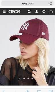 🚚 New Era 9 Forty NY Cap in Berry NY帽