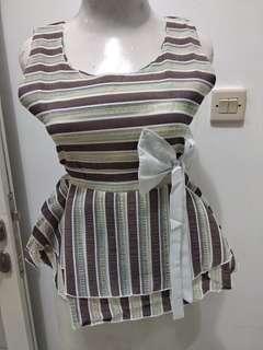 Blouse Stripe Pita (NEW REAL PICT)