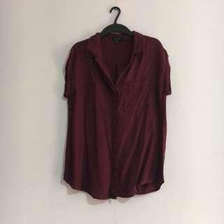 Cotton On Maroon Shirt