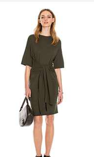 Country Road Khaki Tie Front dress XXS