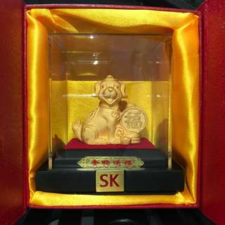 24K Gold plated dog
