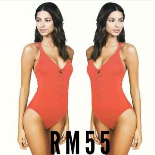 READYSTOCK SALE ORANGE SWIMSUIT
