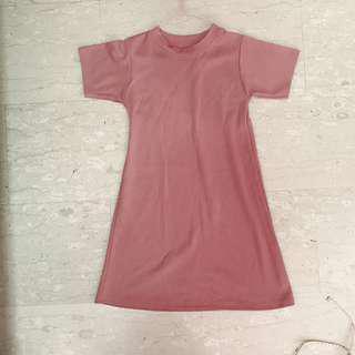Basic Dusty Pink Shift Dress