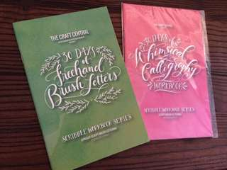 The Craft Central Freehand Brush & Calligraphy Workbooks