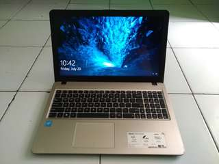 Laptop Design Asus X540 Gold Mulus likenew