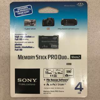 SONY PRO DUO 4GB ORIGINAL