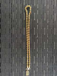 916 rope gold chain 165.8g