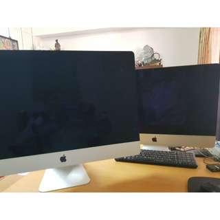 照片中27吋iMac102年6月購買已過保此為訂製款非一般品當初購約10萬初割愛價50000元3TB硬碟10707月換新