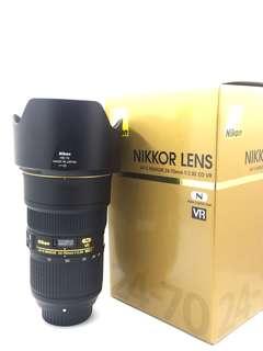 Nikon 24-70mm F2.8 E VR (Mint)