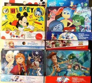 Disney 正版 鐵盒顏色連印章