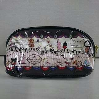 Sentimental Circus PVC Vinyl Cosmetic Pouch with Zipper