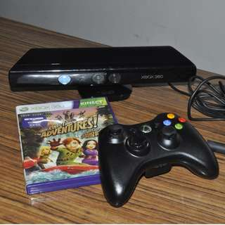 Xbox 360 Kinect Sensor and Wireless Controller