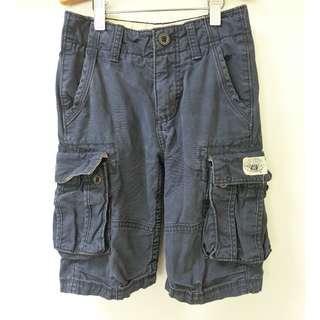 GAP KIDS 深藍 休閒褲 運動褲 工作褲 短褲 6號