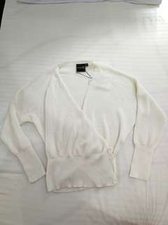 White Wrap Cardigan