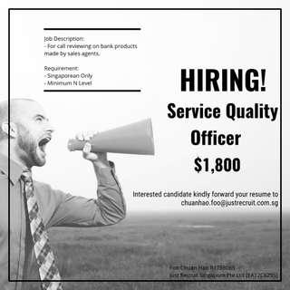 Service Quality Officer