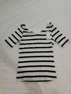 Uniqlo Striped V Neck