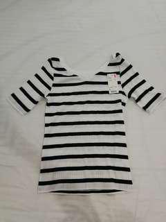 Uniqlo Striped V Neck