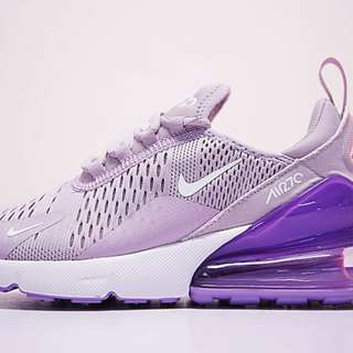 Brand New in Box: Authentic Nike Air Max 270 Flyknit Shoes (Purple & White) FREE POSTAGE