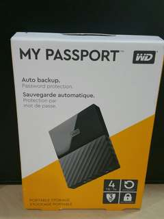 WD 4TB portable hard drive my passport