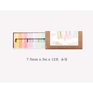 🚚 Pastel Colour Washi Tape Set Size Small