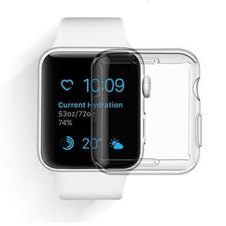 1505. Screen Protector All-Around, Ultra-Thin Soft Transparent iPhone Watch Cover for iWatch Series 1 - 42 mm