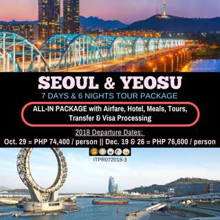 7D6N Seoul and Yeosu Tour Package