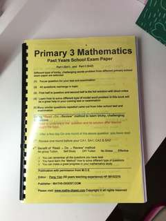 P3 Math Past years school exam paper from Math-digest