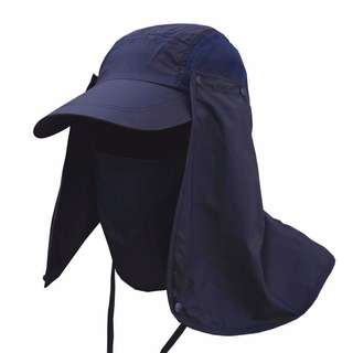 Topi Anti UV Matahari - Navy Blue