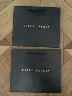 Branded paper bag: RALP LAUREN RL