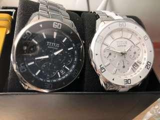 🈹️ TITUS (錶)全新、罕有(白色 $1300 及 克色 1700 )兩隻 $2900 ‼️