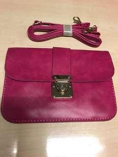 Pink cute shoulder bag