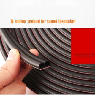 Rubber seal for soundproofing, noise insulation