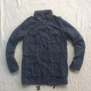 H&M PARKA JACKET NAVY