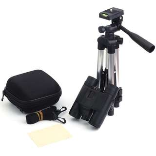 Teropong Binocular 8x Magnification HD Night Vision with Tripod Stand - Black