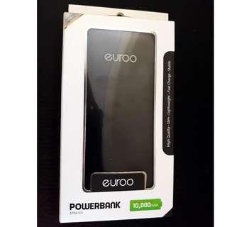 Euroo 10,000 mAh Powerbank Black color