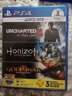 Ps4 Game Uncharted 4 & the Horizon Zero Dawn