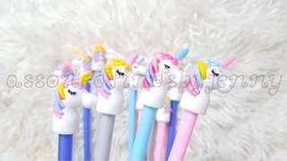 new multi coloured unicorn ballpen ser 12a