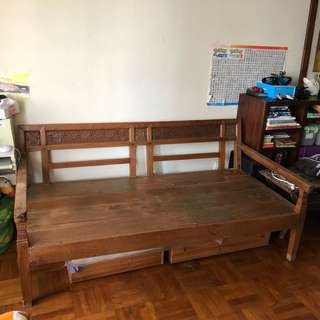 Antique Balinese daybed
