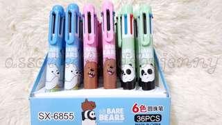 we bare bears 6 coloured pen 1s